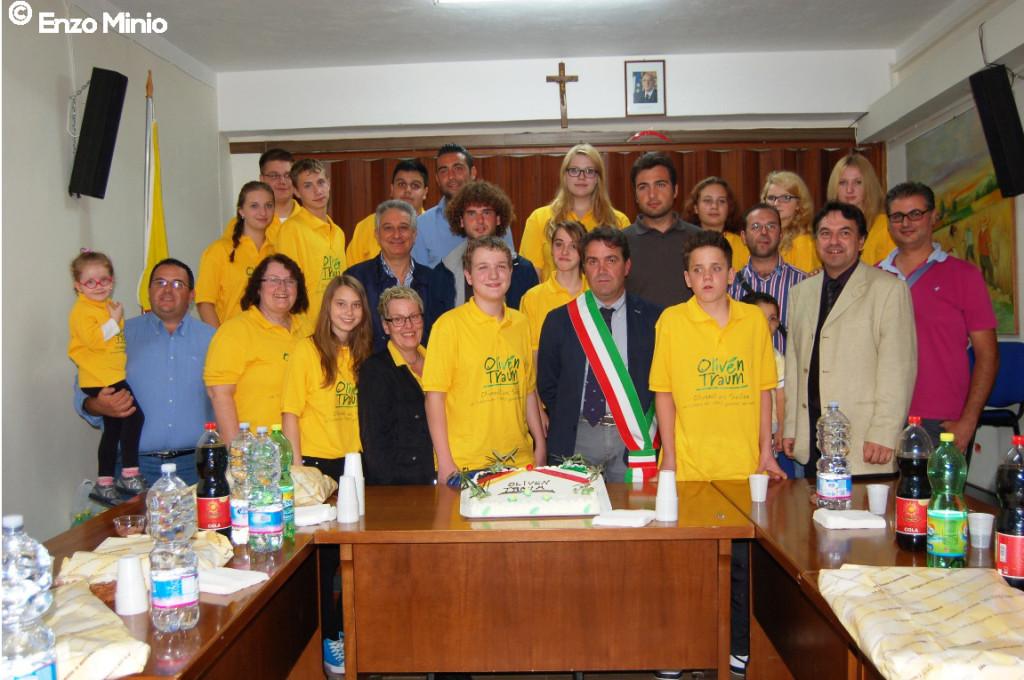 Lucca Sicula La delegazione tedesca ricevuta al comune Foto di Enzo Minio