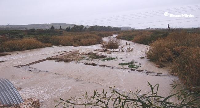 Ribera fiume-Verdura L'area di attraversamento del nuovo  ponte