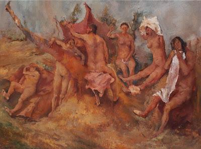 Pirandello Fausto bagnanti_1938 in mostra a Londra