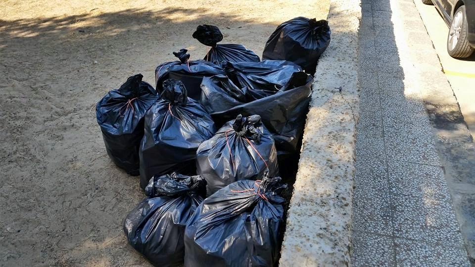 rifiuti raccolti a Montallegro da Cinquemani