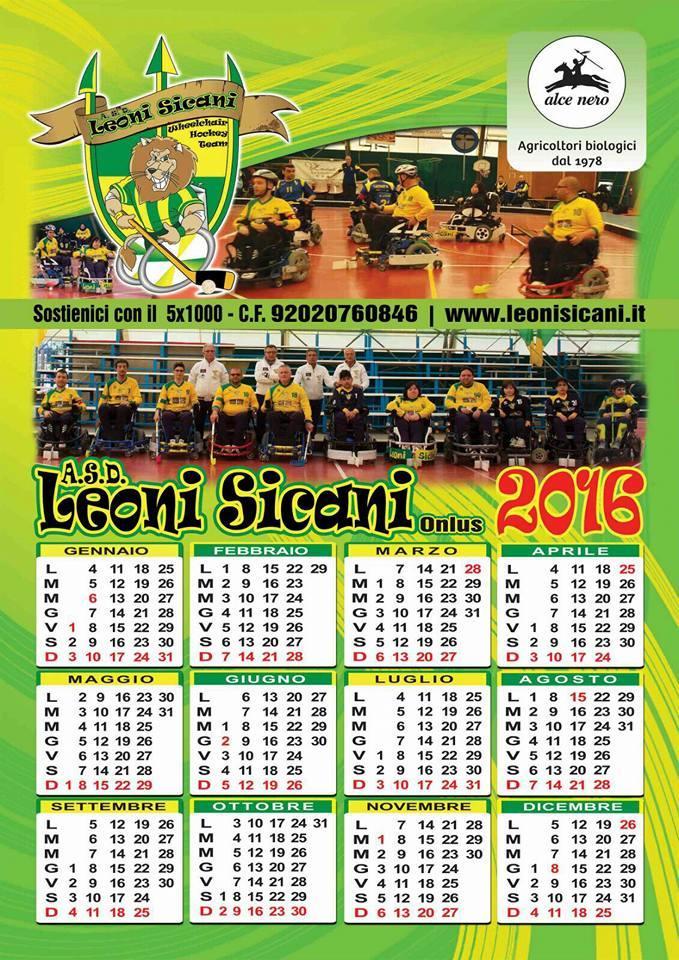Leoni Sicani calendario 2016