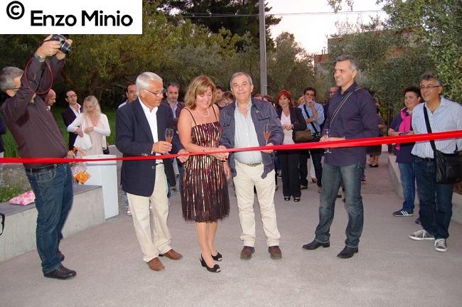 Cianciana la famiglia Bakke e Furu, con il sindaco Alfano inaugurano la casa Foto di Enzo Minio