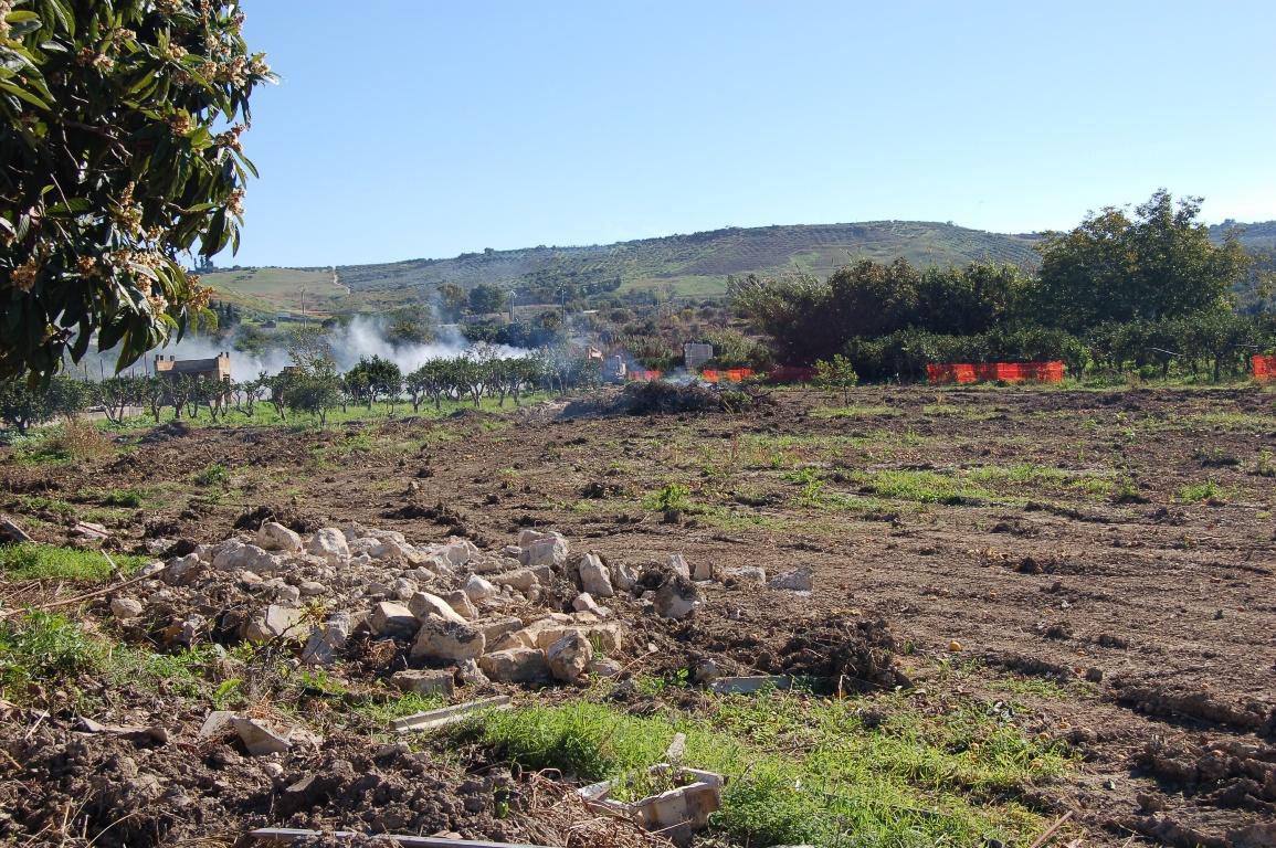 Ribera Il terreno pronto per il passaggio del ponte Verdura