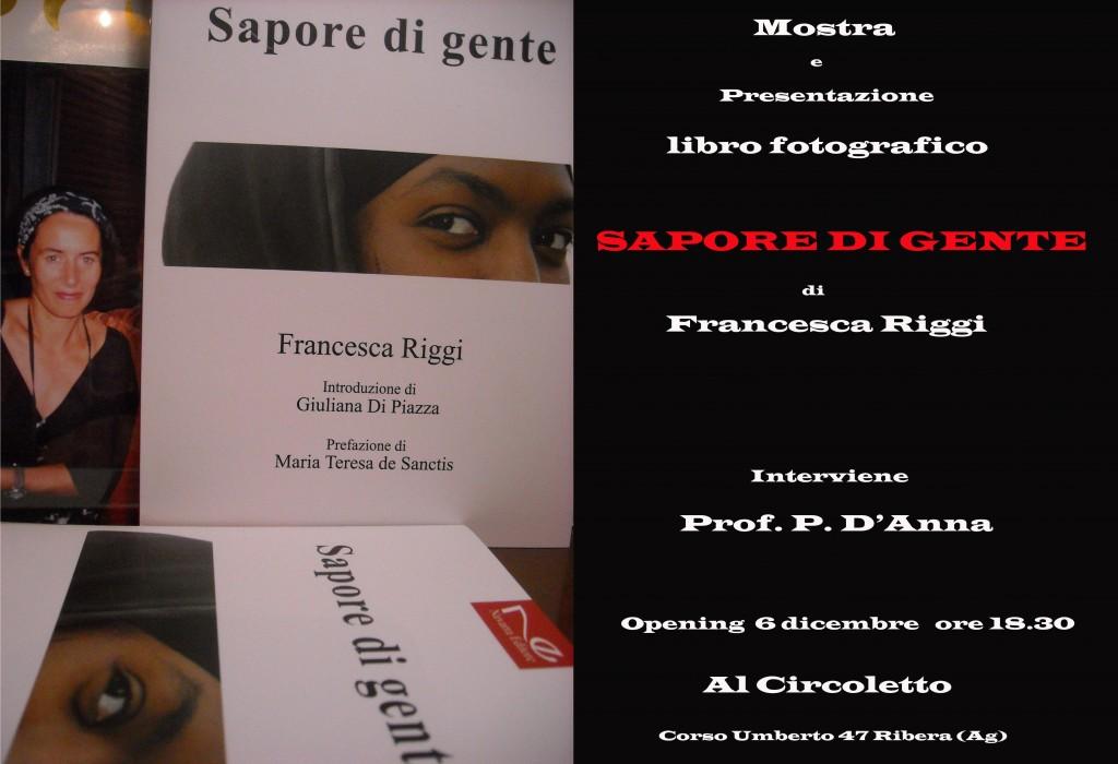 Libro Sapore di gente di Francesca Riggi