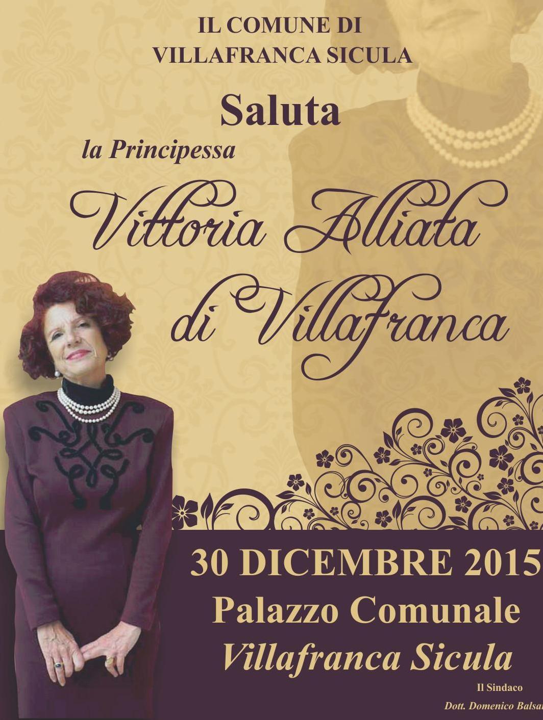 Villafranca Sicula Locandina con la principessa Vittoria Alliata