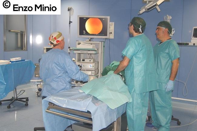Ribera sala operatoria a sx dott. Macaluso FOTO Minio