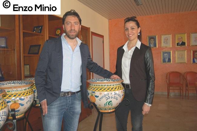 Ribera Daniela Gatto ed Emanuele Puma FOTO MINIO
