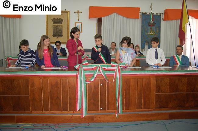 Ribera Il baby sindaco e gli assessori FOTO MINIO