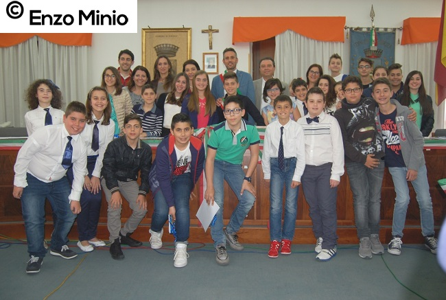 Ribera baby sindaco, assessori e consiglio FOTO MINIO