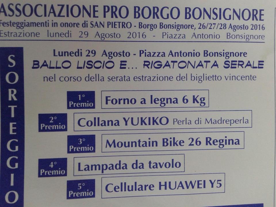 Borgo Bonsignore i premi