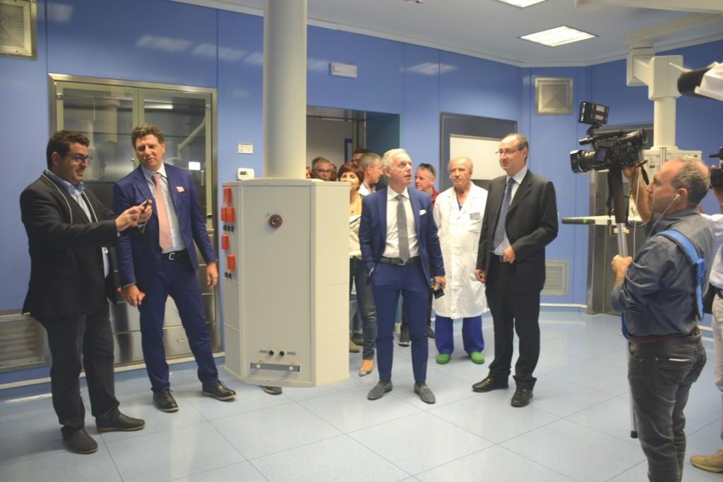 Ribera I vertici dell'Asp nella nuova sala operatoria