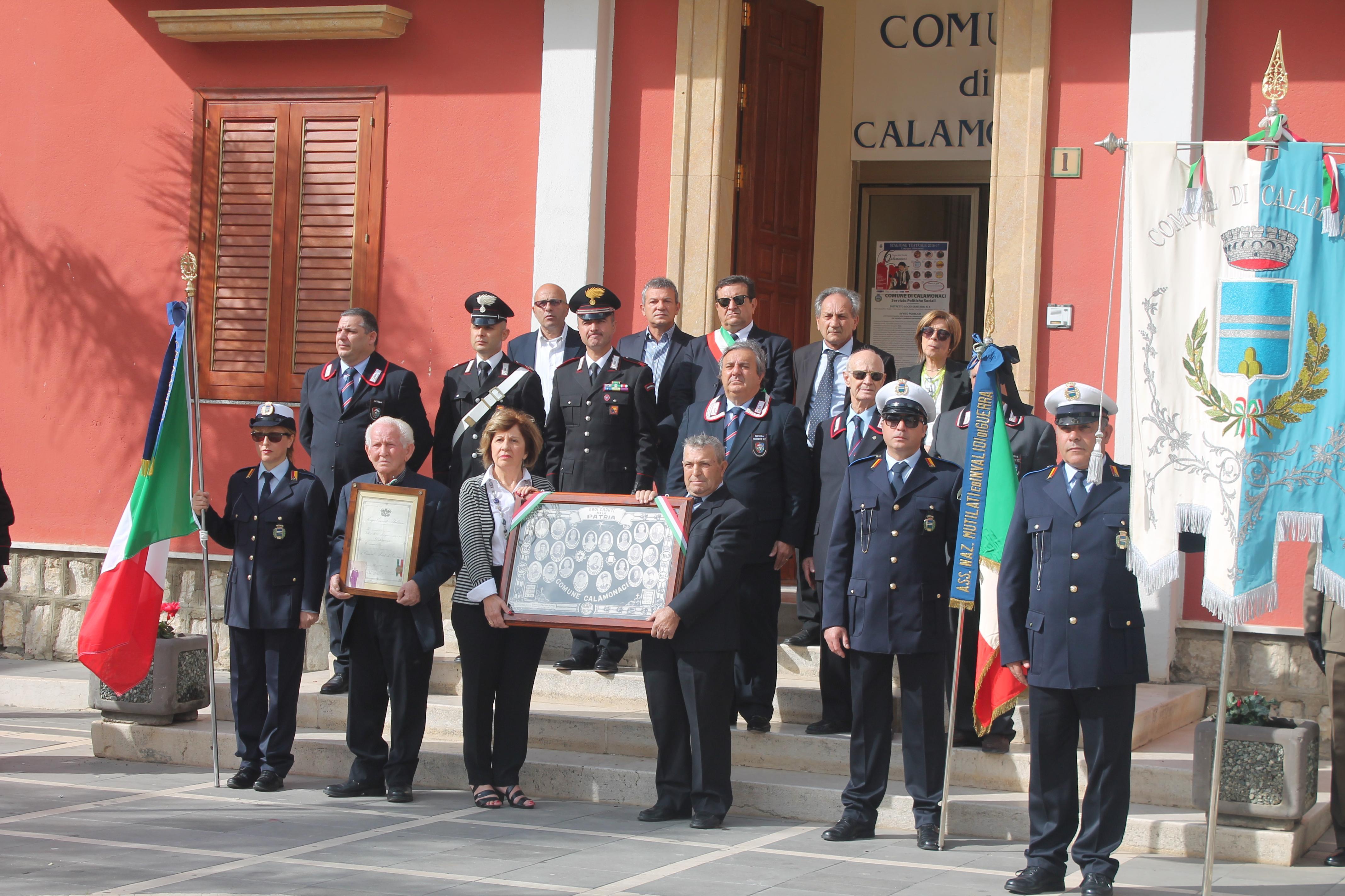 Calamonaci  festa Forze Armate  del 2016