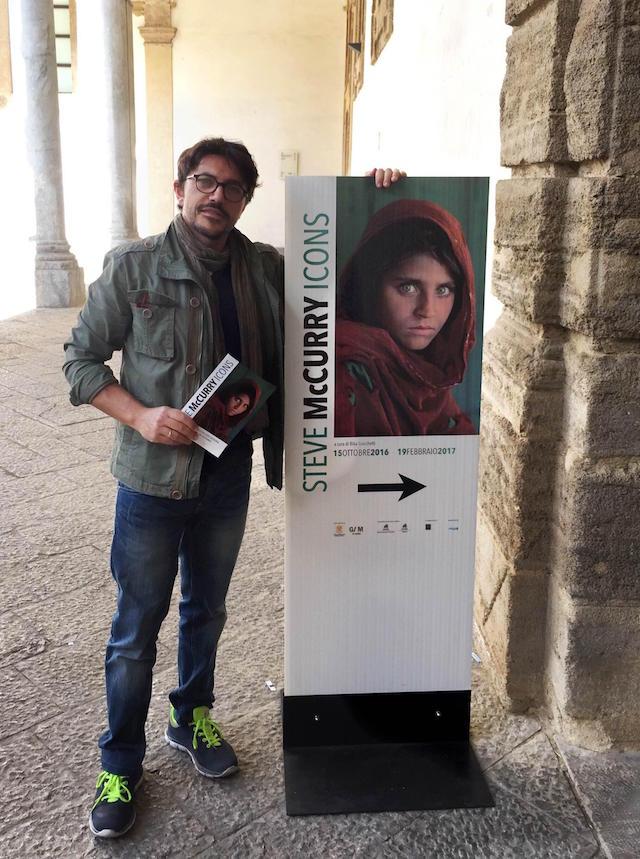 Ribera aurelio quartararo visita la mostra fotografica di for Mostra steve mccurry palermo