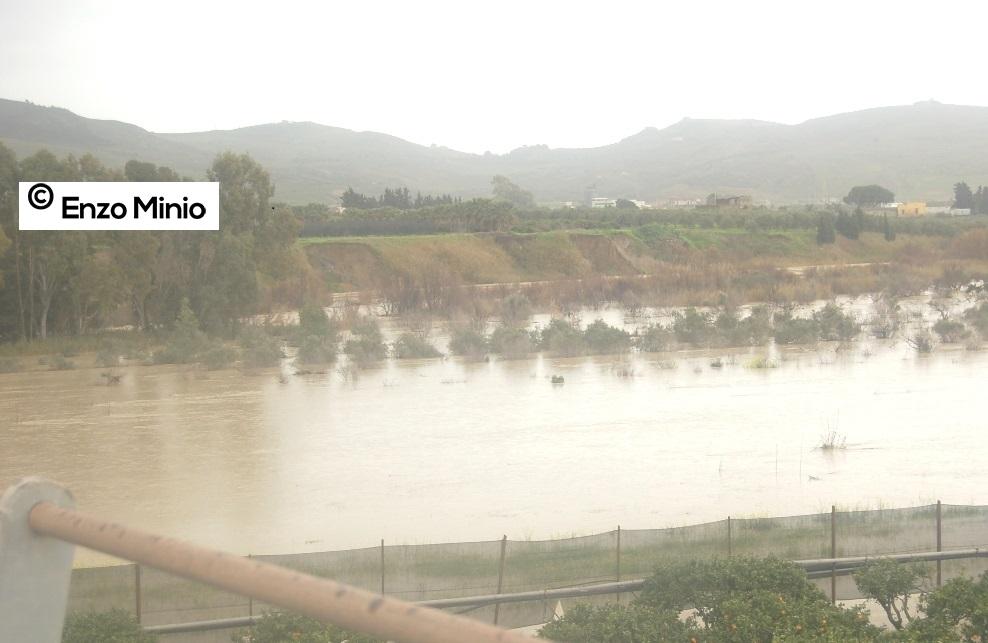 Ribera Fiume Platani veduta dal ponte sulla SS 115 Foto Minio