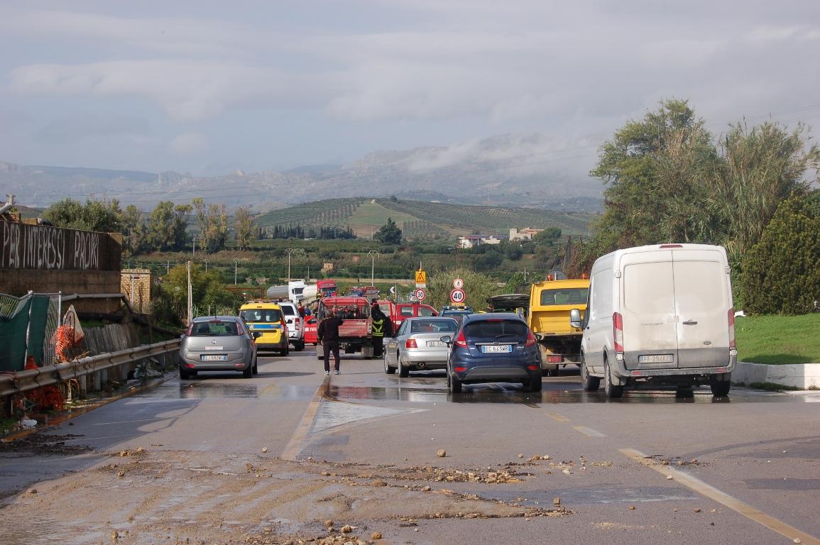 SS 115 Ribera-Sciacca chiusa al transito veicolare