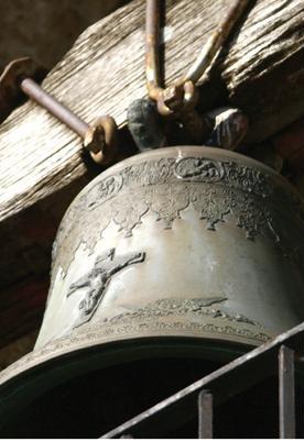 Burgio campana di bronzo secolare