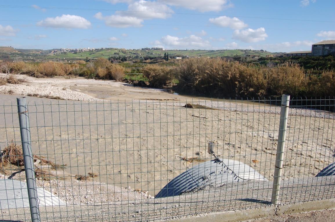 Ribera fiume Verdura in piena