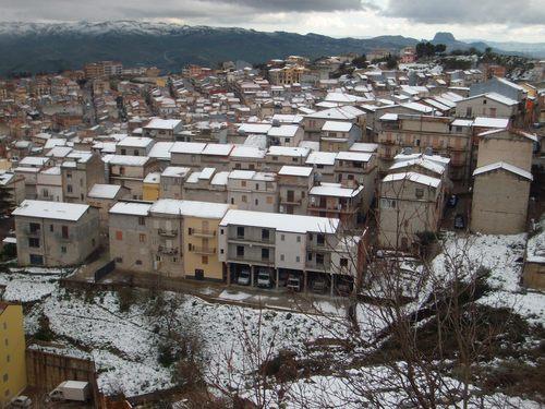 San Giovanni Gemini neve in paese
