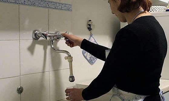 rubinetti quasi a secco