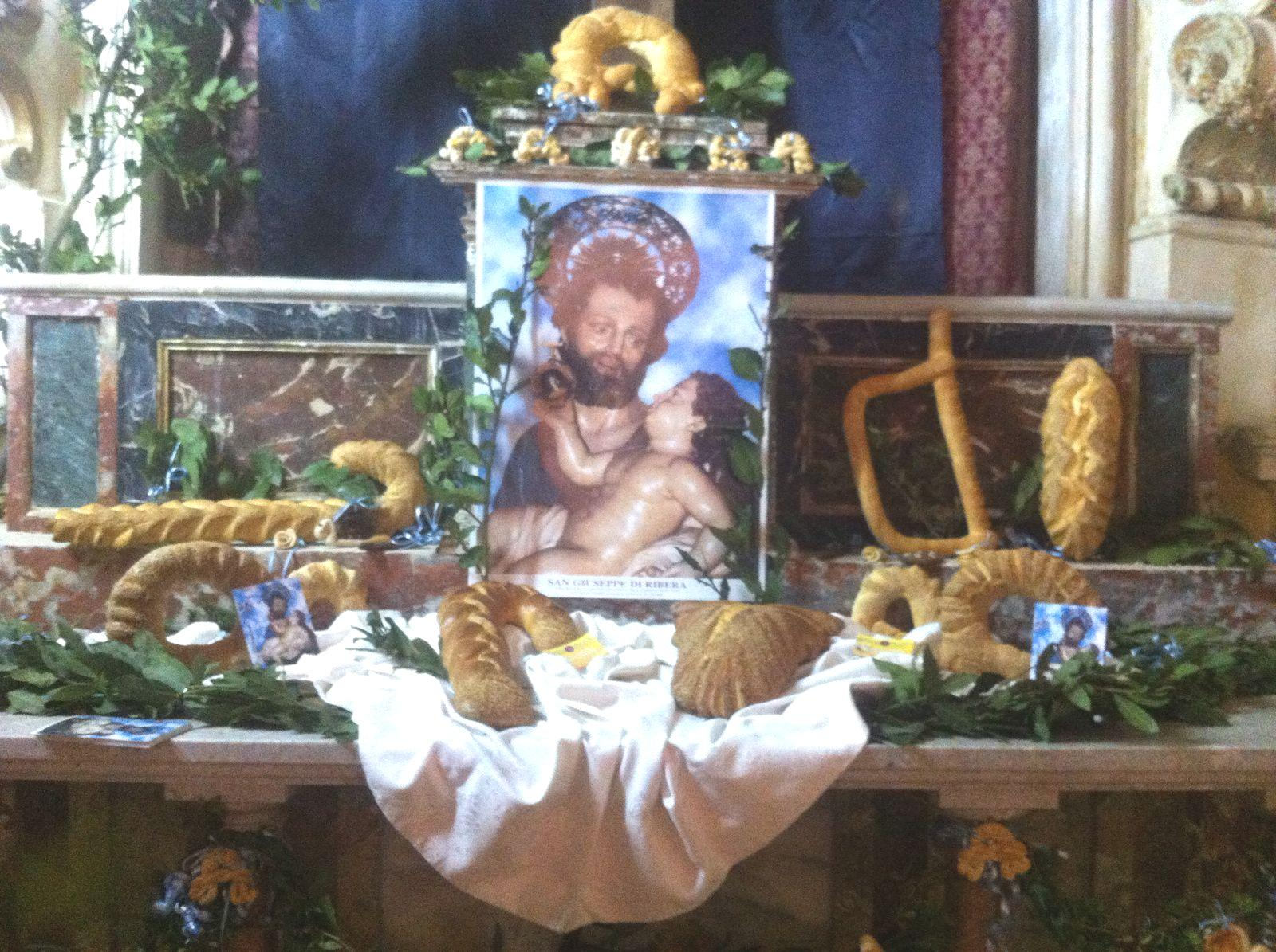 Ribera: L'altare di San Giuseppe in trasferta in provincia di Trapani | Ripost