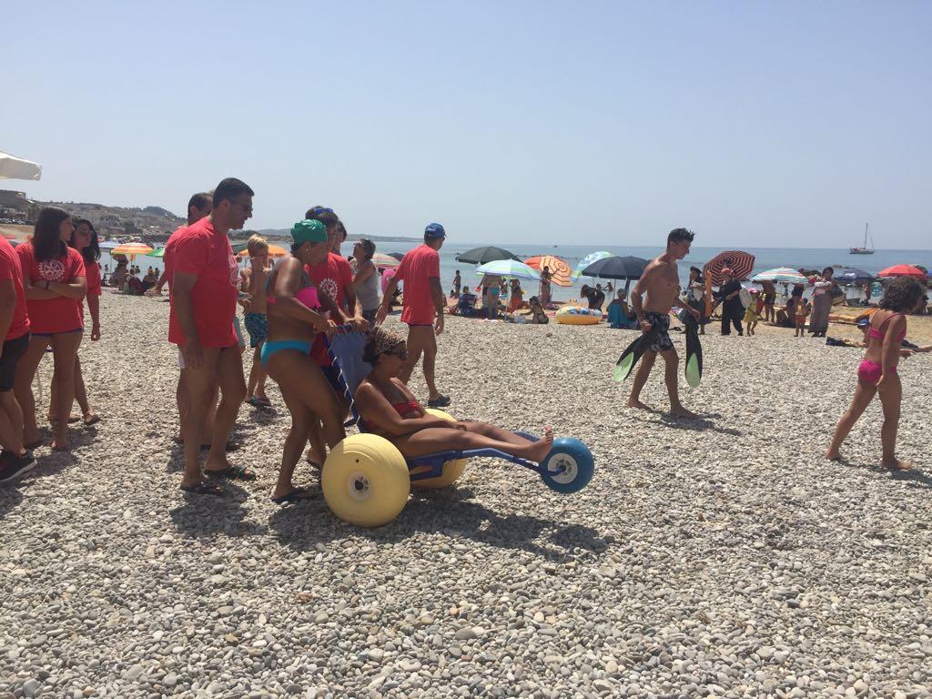Ribera donazione a mare dell interact per ragazzi disabili ripost